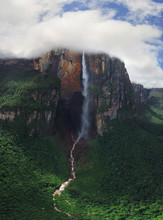Aerial View Of Angel Falls, Venezuela