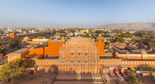 Aerial View Of Hawa Mahal Pala...