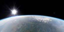 Aerial View Of The Earth From ...