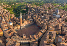 Aerial View Of Siena Historica...