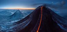 Aerial View Of Volcano Klyuche...