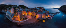 Aerial View Of Vernazza At Nig...