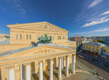 Aerial View Of Bolshoi Theatre In Moscow, Russia