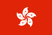 Hong Kong Flag. Official Color...