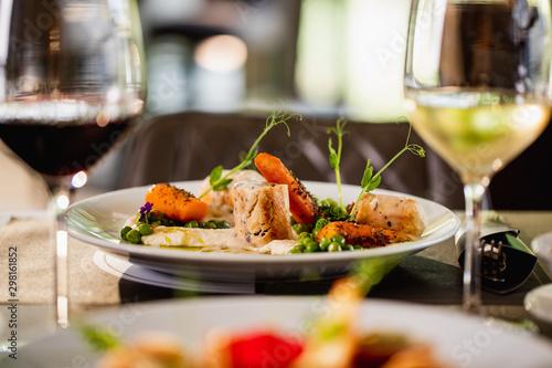 Cuadros en Lienzo Delicious gourmet meal.