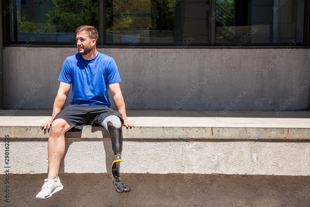 Fototapety, obrazy: Disabled runner