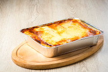 A Portion Of Lasagna Straight ...