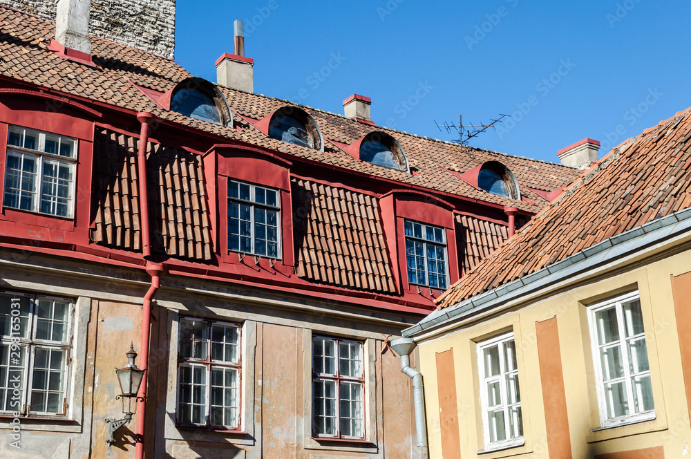 Buildings in Tallinn Old Town