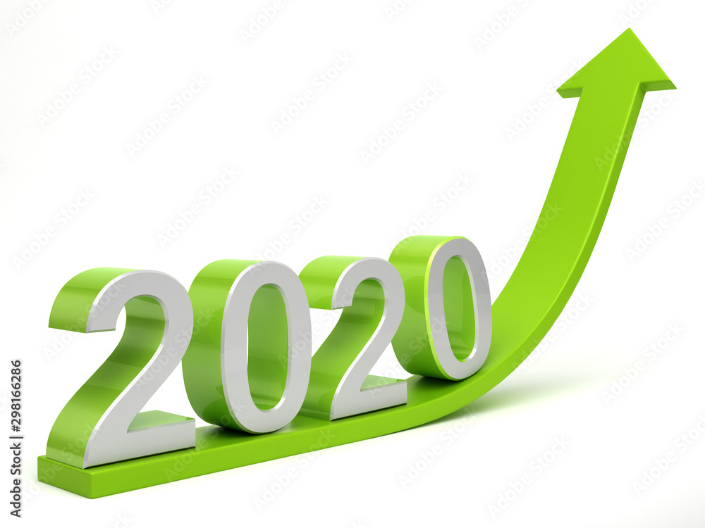 Fototapety, obrazy: 2020 Growth concept