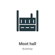 Moot Hall Vector Icon On White...