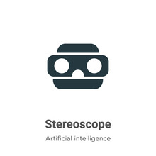 Stereoscope Vector Icon On Whi...