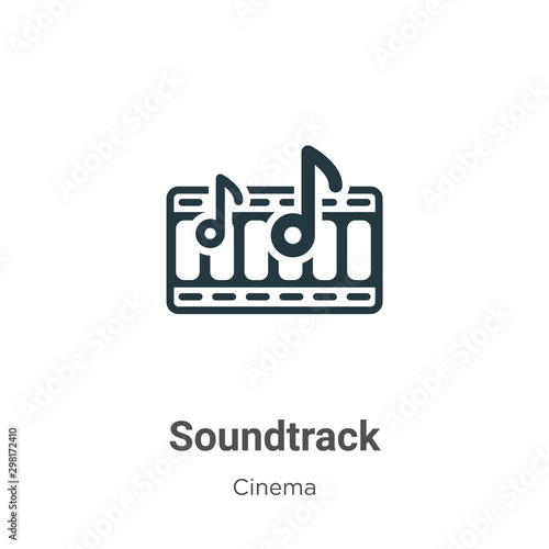 Soundtrack vector icon on white background Canvas Print