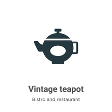 Vintage Teapot Vector Icon On ...