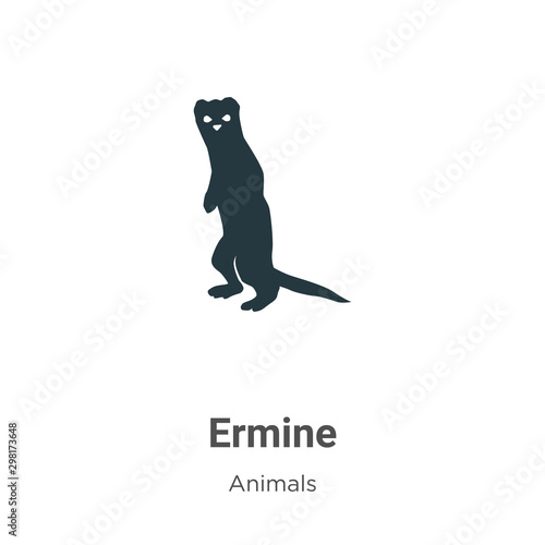 Ermine vector icon on white background Poster Mural XXL