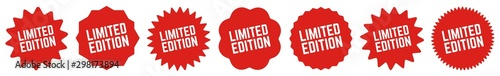 Fotografía Limited Edition Tag Red | Special Offer Icon | Sale Sticker | Deal Label | Varia