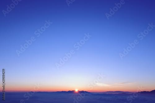 Foto 山頂(木曽駒ヶ岳)からの日の出