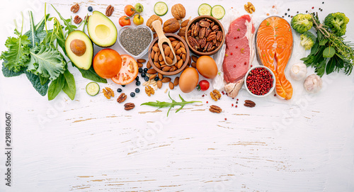 Ketogenic low carbs diet concept Fotobehang