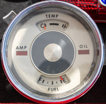 Vintage Fuel Guage On Empty