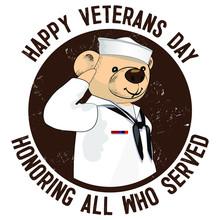 Teddy Bear Salutes Veterans. F...
