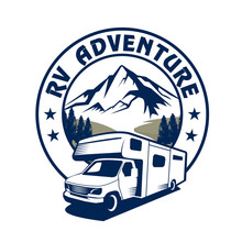 RV Camp Logo, Caravan Logo, Ca...