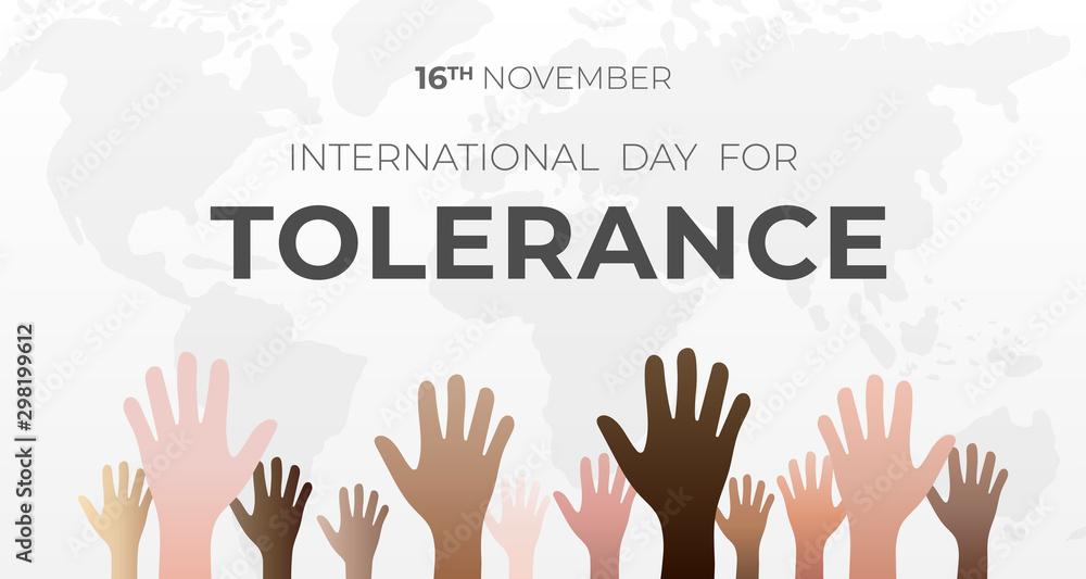 Fototapety, obrazy: International Day for Tolerance Background Illustration