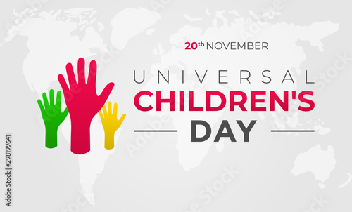 Universal Children's Day Background Illustration Canvas Print