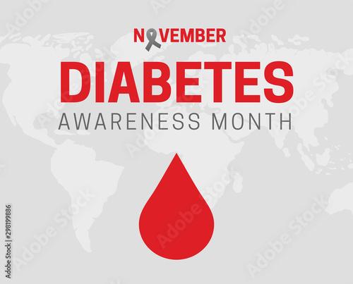 Fotografía  Diabetes Awareness Month Background Illustration