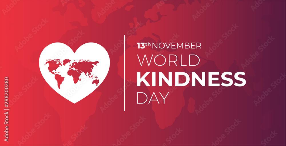 Fototapety, obrazy: World Kindness Day Illustration Background
