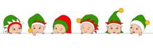 Set Christmas Elfs Children, B...