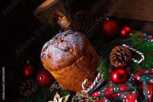 Panettone, an Italian Christmas Sweet Bread Canvas Print