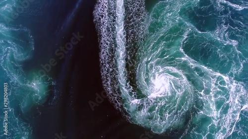 Obraz na płótnie Whirlpools of the maelstrom , Norway