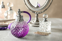 Different Perfume Bottles On D...