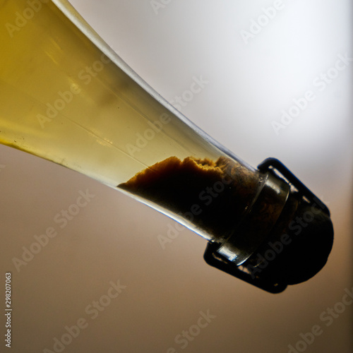 Valokuva  Image of tartar. Precipitation in the bottle of wine with aging.