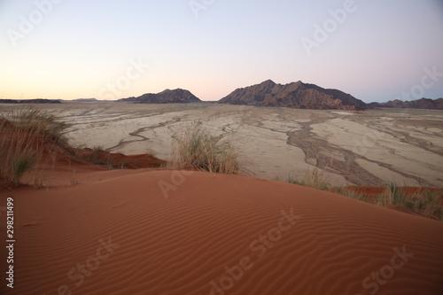 Sand dunes in Namib Desert in Namibia
