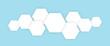 Leinwanddruck Bild - Polygons technology white cells in blue background