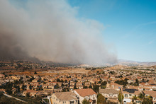 California Wildfire Threatens Residential Area. Tick Fire October 25, 2019