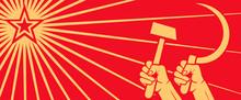 Soviet Red Propaganda Poster O...