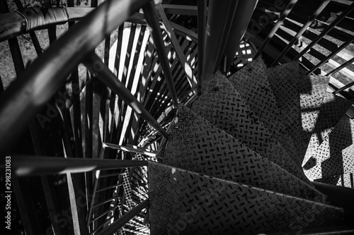 Modern bridge architecture. Black and white abstract picture Fototapet
