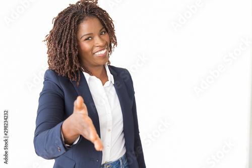 Fotografie, Tablou  Happy confident business leader giving hand for shake