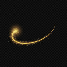 Gold Glow Light Effect Stars Bursts