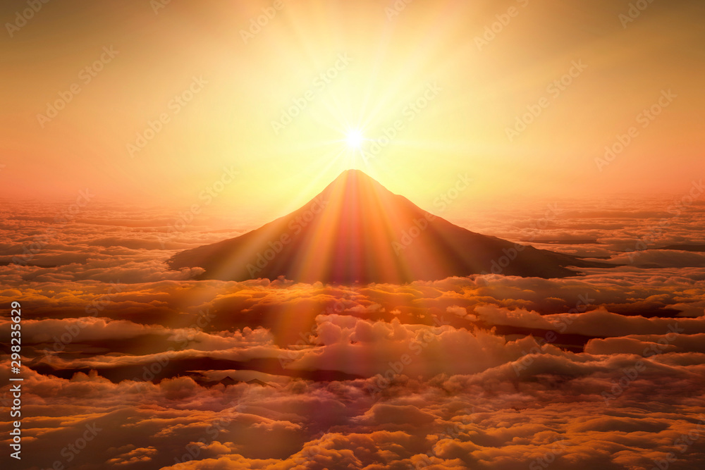 Fototapeta 富士山の日の出