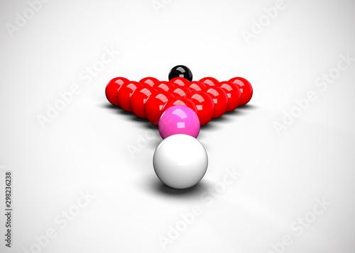Snooker Billiards Balls Table Set Up 3D Render