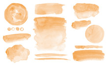 Orange Watercolor Stains Washe...