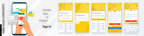 Fotografía  Design of the Mobile Application UI, UX