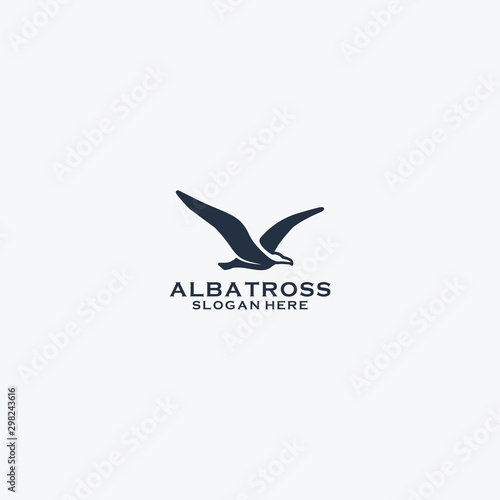 Albatroos logo design Canvas Print