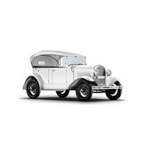 3d Rendering Old Car