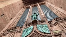 View Of The Door And The Facade Of The Liverpool Cathedral.