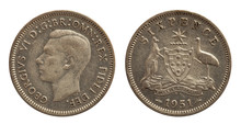 Australia Six Pence Coin Silve...