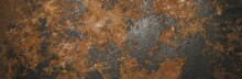 Grunge Rusty Dark Metal Backgr...