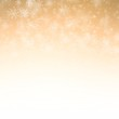 Abstract Background White Snow flake on gold color background